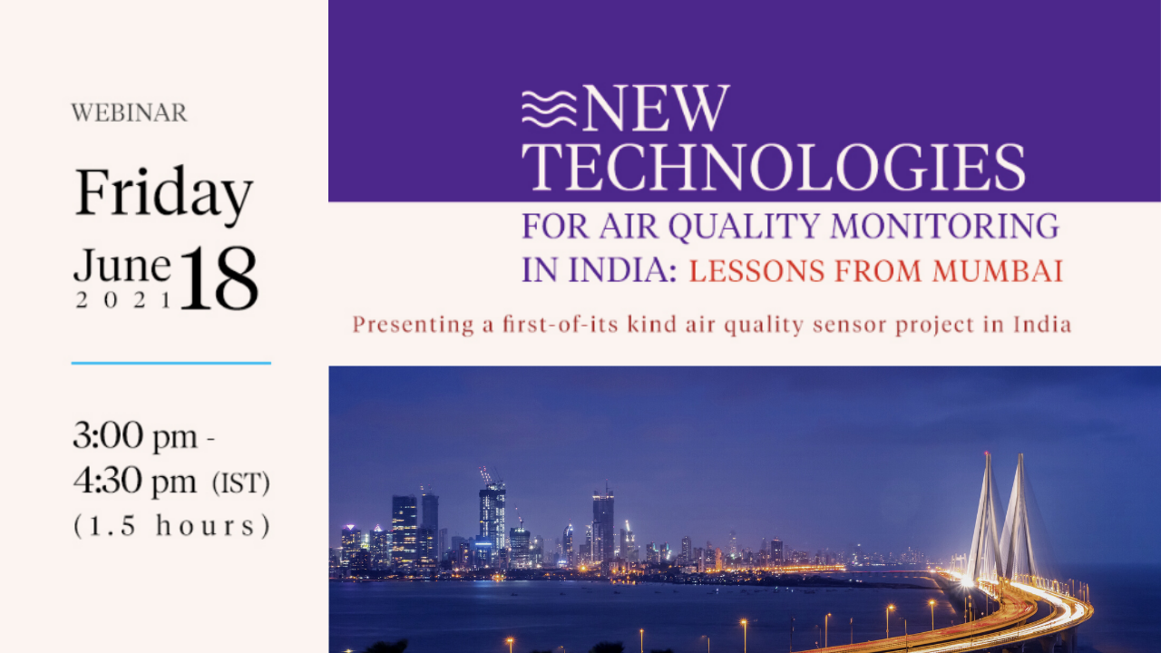 Presenting Findings of Low-Cost Air Quality Sensor Project in India | Webinar